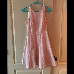 J-Crew pink tie dress!